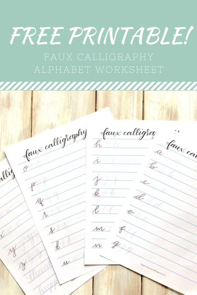 Faux Calligraphy- 3 Simple Steps To Beautiful Script Lettering - Scribbling  Grace